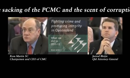 Quick vids: The sacking of the PCMC and the scent of corruption – #qldvotes #qldpol @Qldaah