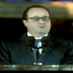 President of France François Hollande calling for ambitious climate action. Photo: still from youtube video.