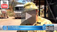 Ten News Qld: ADF and SES begin clean up in Yeppoon as queuing for fuel grows longer.