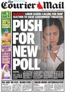 The Courier Mail - Push For New Poll - April 6 2015.