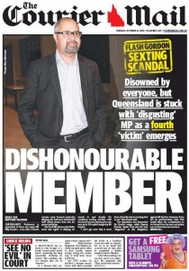 The Courier Mail October 13, 2015 - Dishonourable Member