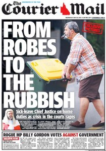The Courier Mail - Rogue MP Billy Gordon Votes Against Government - May 20, 2015.