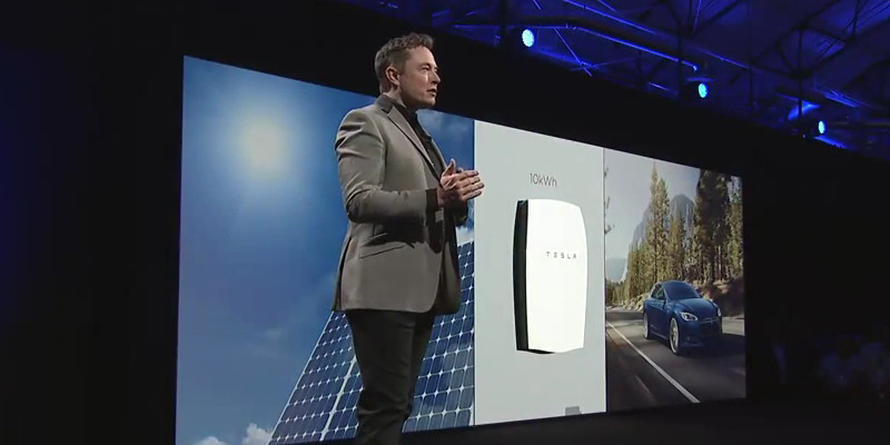 Elon Musk launching Tesla Energy products