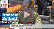 Major General Andrew Bottrell pleads public interest immunity to avoid questions from Senators Sarah Hanson-Young and Katy Gallagher.