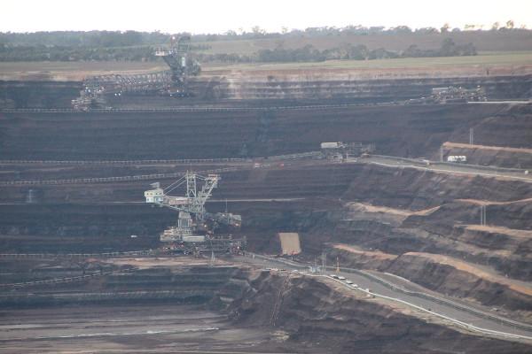 Harvesting brown coal (lignite) at Loy Yang Photo: John Englart