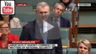 "Sky News: ""Matters of national security"": Labor may have paid people smugglers for intel."