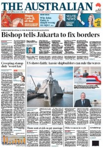 The Australian - Bishop Tells Jakarta To Fix Borders - June 15, 2015.