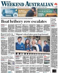 The Australian - Boat Bribery Row Escalates - June 20, 2015.