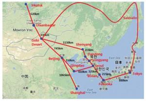 Possible interconnectors for Gobitec Asian Super Grid