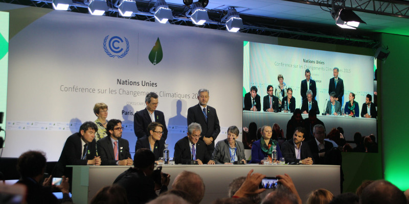 Coalition of Ambition press conference COP21 Paris