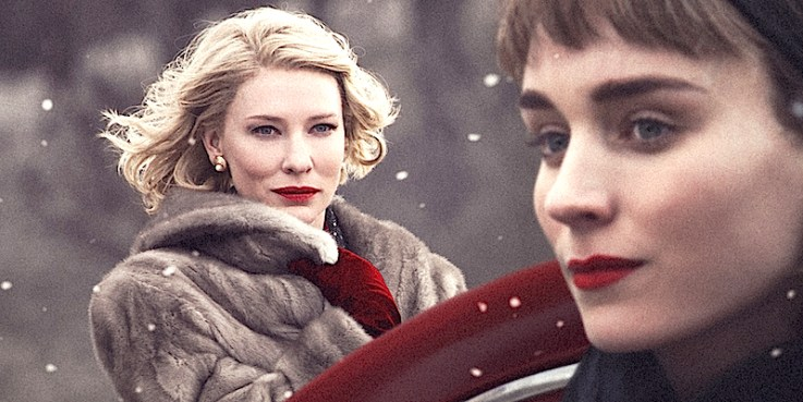Cate Blanchett as Carol and Rooney Mara as Therese.