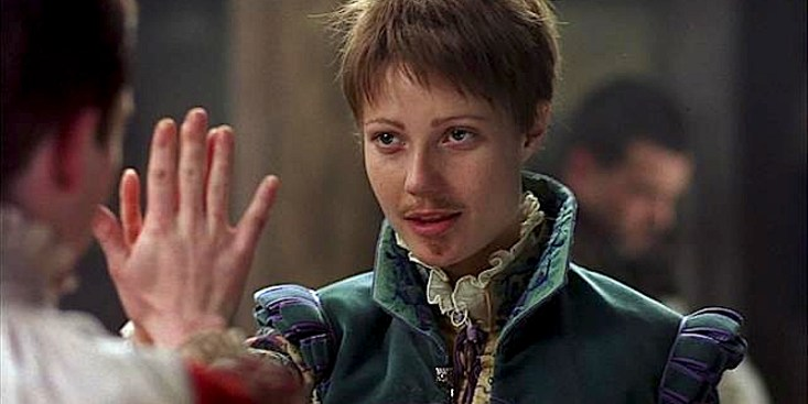 Gwyneth Paltrow cross-dressing in 'Shakespeare in Love' (1998).