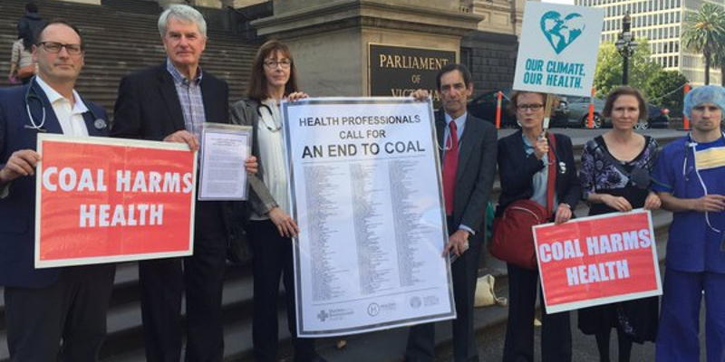Doctors deliver  open letter to Victorian Premier to close coal power stations for health and a safe climate
