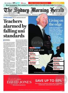 The Sydney Morning Herald: Living On The Edge, May 31, 2016.