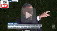 ABC News 24: Bill Shorten answers questions on the AFP raids over NBN leaks.