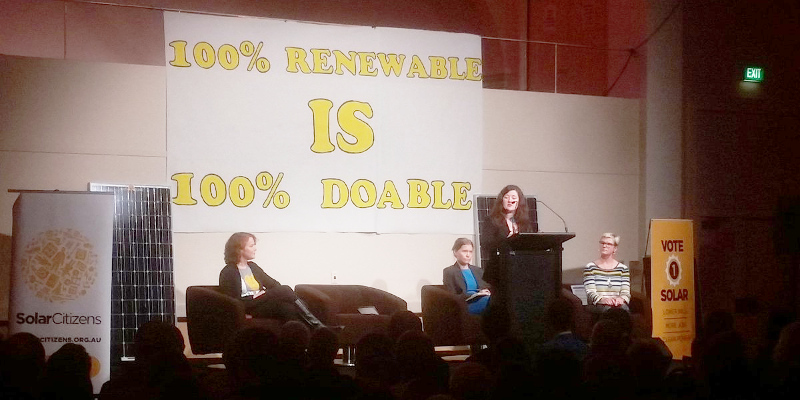 Wentworth electorate: Solar Citizens 100 percent is doable forum