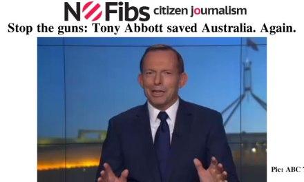 Stop the guns: Tony Abbott saved Australia. Again. – @Qldaah #auspol
