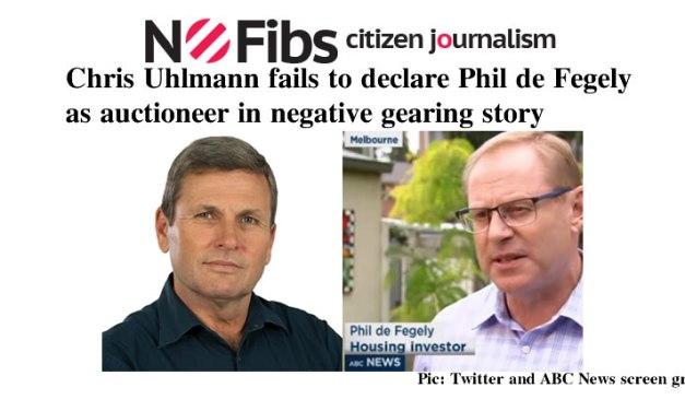 Chris Uhlmann fails to declare Phil de Fegely as auctioneer – @Qldaah #Mediawatch #auspol