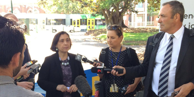 Energy and Climate Minister Lily D'Ambrosio announcing Melbourne's tram network to go solar