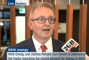 NSW Energy Minister Don Harwin