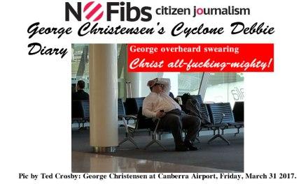 George Christensen's Cyclone Debbie diary – @Qldaah #qldpol #TCDebbie #auspol