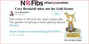 Cory Bernardi takes out the Gold Kenny