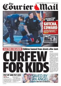 October 2, 2017 The Courier Mail - Curfew For Kids