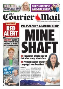 November 4, 2017 The Courier Mail - Mine Shaft