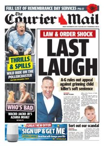 November 10, 2017 The Courier Mail - Last Laugh