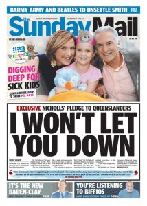 November 19. 2017 The Sunday Mail - I Won't Let You Down