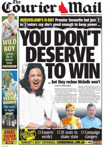November 25, 2017 The Courier Mail - You Don't Deserve To Win