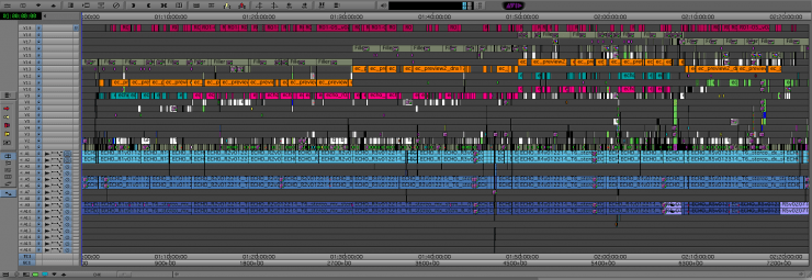 Feature film Editor timelines