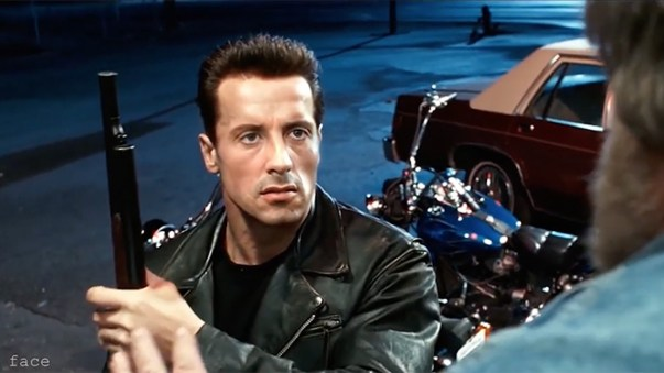 Sylvester Stallone as Terminator 2 Ctrl Shift Face exclusive interview