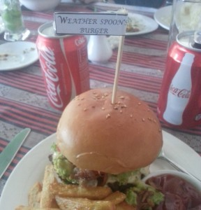"""Weather Spoons"" Burger"