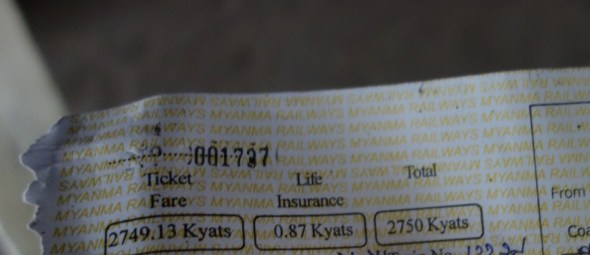 ticket includes life insurance fee...