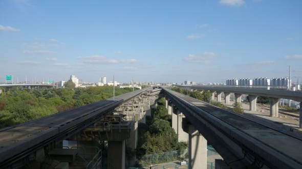 View of the Maglev tracks