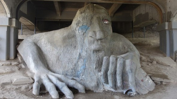 A troll.  Underneath a bridge naturally...