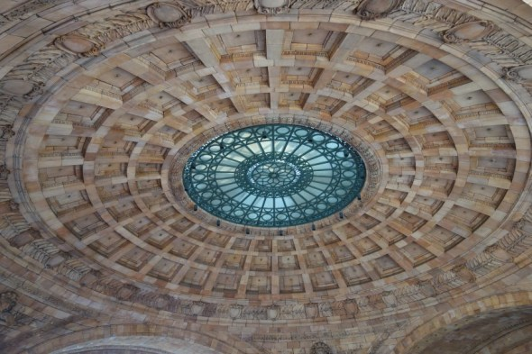 And here is the magnificent rotunda at Pittsburgh's old Penn Station, now appartments. This originally covered the turning circle for horse drawn taxi cabs!