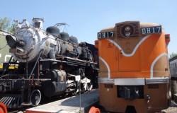Steam and diesel locomotives
