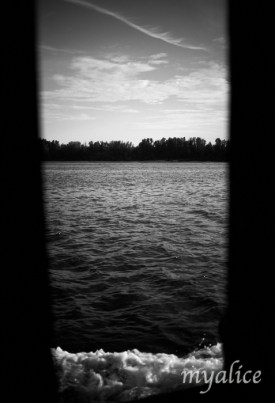 The view from the boat is always beautiful.