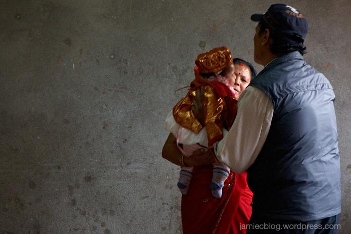 baby girl, birthday celebration, nepal, kathmandu