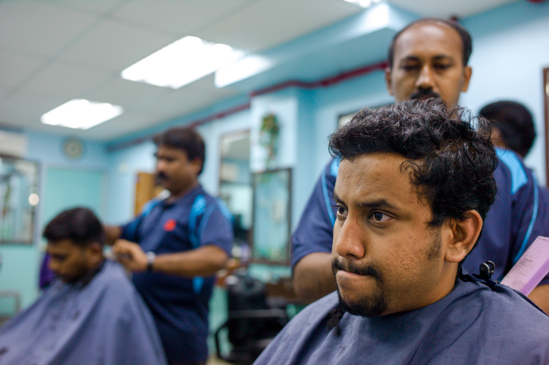 Jamie Chan, No Foreign Lands, Singapore, Little India, Barber