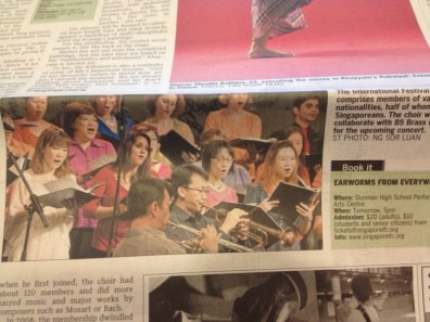 Our choir is in the papers!