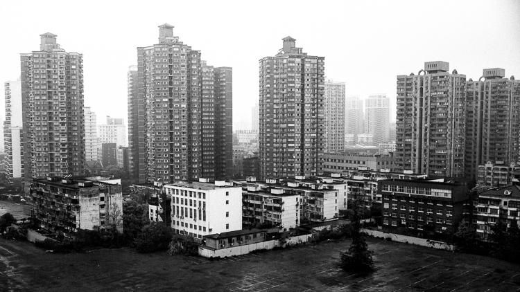 Spring Airlines, Jamie Chan, Leica, Shanghai, rain, buildings