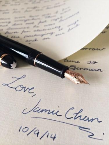 Penpal, Jamie Chan, Montblanc, Meisterstück, 90th anniversary, classique, Original Crown Mill Paper, rose gold, Midnight Blue