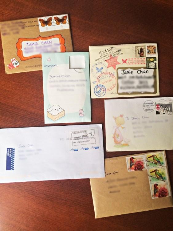 penpal, letters, snail mail, Jamie Chan