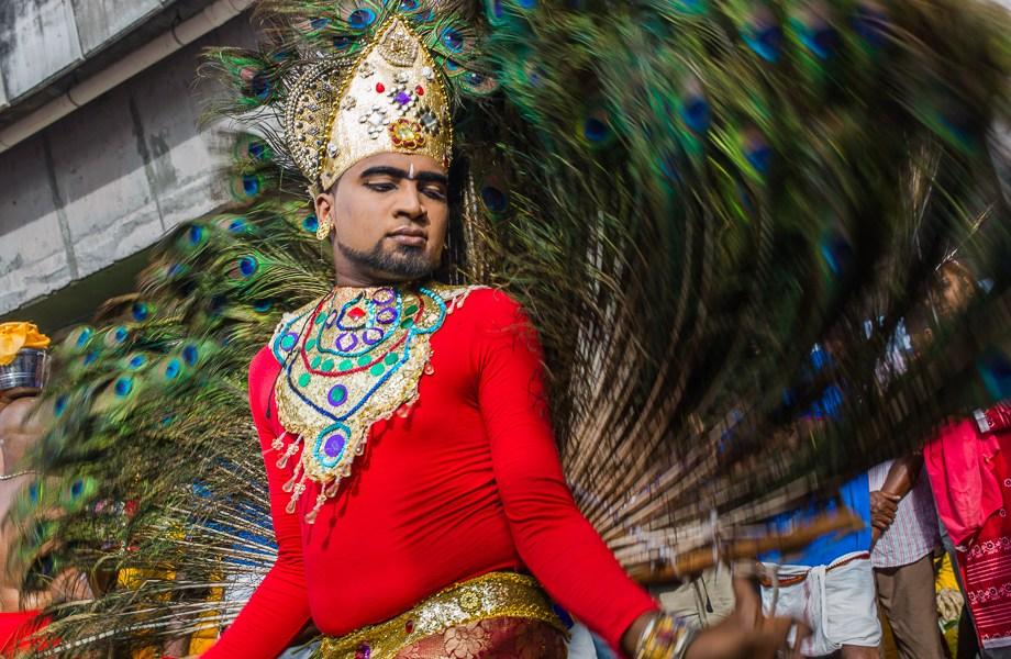 peacock dance, Thaipusam, 2015, Malaysia, Leica, Summilux, Jamie Chan, No Foreign Lands, Travel