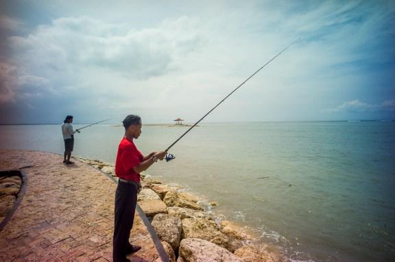 Lomography, New Russar+ Lens, Sandy Beach, Nusa Lembongan, Sea, Leica M-E, fishing