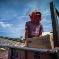 Lomography, New Russar+ Lens, Sandy Beach, Nusa Lembongan, Sea, Leica M-E, worker