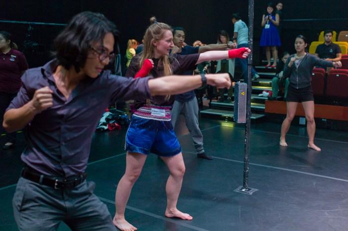 Fight Palast, M1 Fringe Festival 2017, Art & Skin, Jamie Chan, Leica, Singapore, Theatre, Esplanade, fist